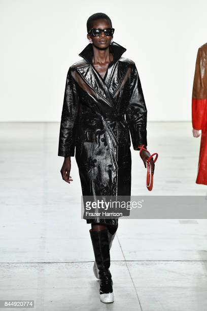 A model walks the runway at the Creatures of the Wind fashion show during New York Fashion Week The Shows at Gallery 2 Skylight Clarkson Sq on...