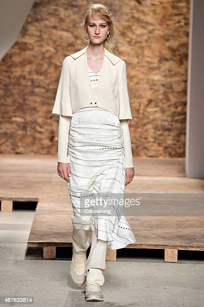 A model walks the runway at the Creatures of the Wind Spring Summer 2016 fashion show during New York Fashion Week on September 10 2015 in New York...