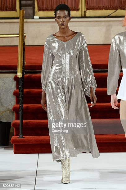 A model walks the runway at the Creatures of the Wind Spring Summer 2017 fashion show during New York Fashion Week on September 8 2016 in New York...