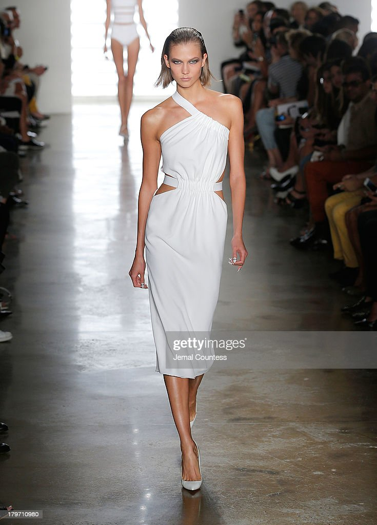 A model walks the runway at the Cushnie Et Ochs fashion show during MADE Fashion Week Spring 2014 at Milk Studios on September 6, 2013 in New York City.