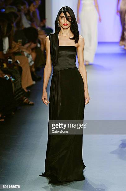 A model walks the runway at the Cushnie et Ochs Spring Summer 2017 fashion show during New York Fashion Week on September 9 2016 in New York United...