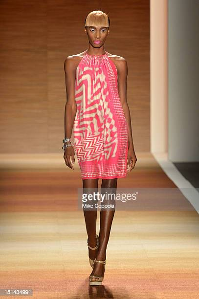 A model walks the runway at the CZAR By Cesar Galindo Spring 2013 fashion show during MercedesBenz Fashion Week at The Studio at Lincoln Center on...