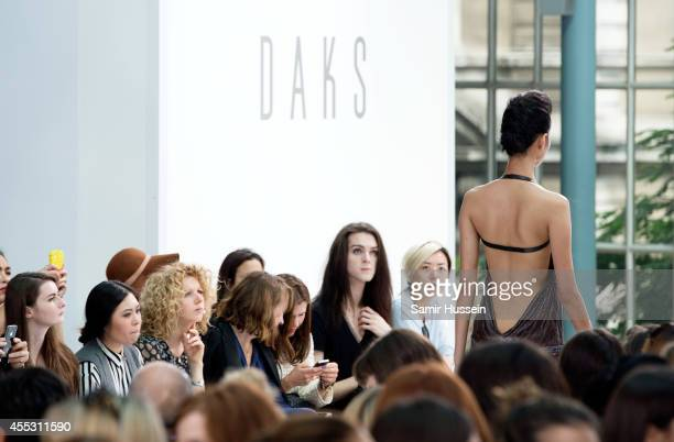 A model walks the runway at the DAKS show during London Fashion Week Spring Summer 2015 on September 12 2014 in London England