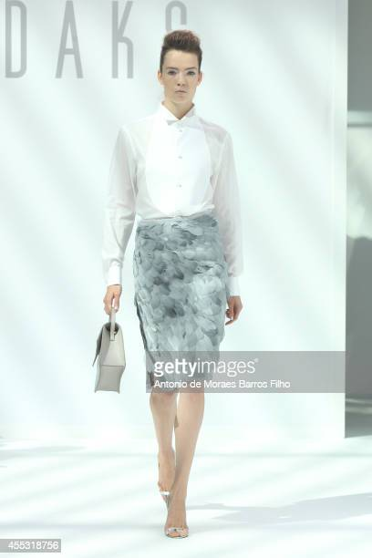 A model walks the runway at the DAKS show during London Fashion Week Spring Summer 2015 at on September 12 2014 in London England