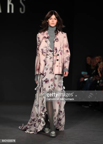 A model walks the runway at the DAKS show during the London Fashion Week February 2017 collections on February 17 2017 in London England