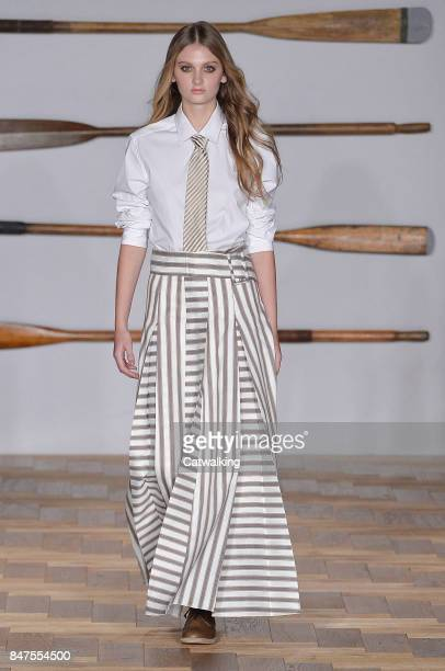 A model walks the runway at the Daks Spring Summer 2018 fashion show during London Fashion Week on September 15 2017 in London United Kingdom