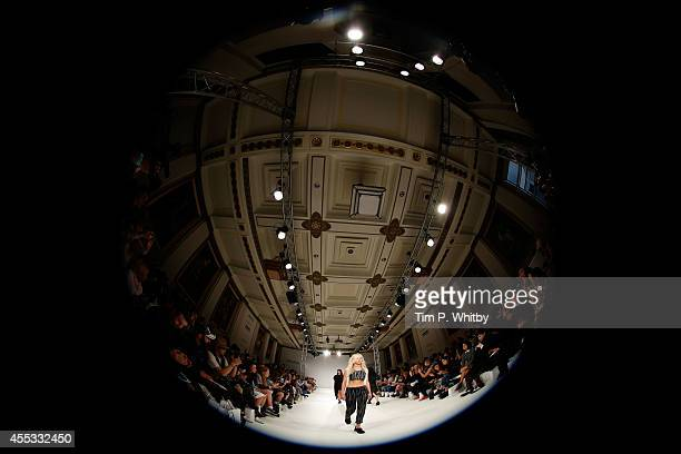 A model walks the runway at the Daniela Barros Joao Melo Costa show during London Fashion Week Spring Summer 2015 at Fashion Scout Venue on September...