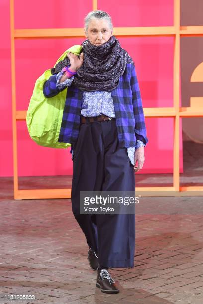 A model walks the runway at the Daniela Gregis show at Milan Fashion Week Autumn/Winter 2019/20 on February 21 2019 in Milan Italy