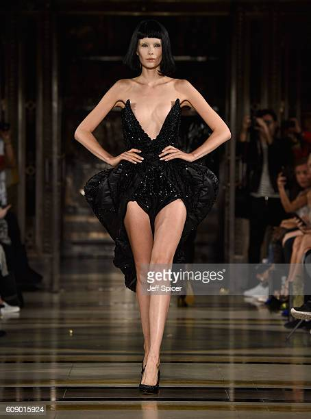 A model walks the runway at the David Ferriera show at Fashion Scout during London Fashion Week Spring/Summer collections 2017 on September 20 2016...
