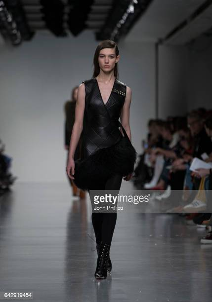 A model walks the runway at the David Koma show during the London Fashion Week February 2017 collections on February 19 2017 in London England