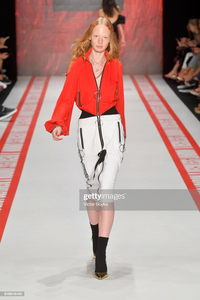 A model walks the runway at the DB Berdan show during Mercedes-Benz Istanbul Fashion Week September 2017 at Zorlu Center on September 14, 2017 in Istanbul, Turkey.