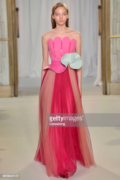 A model walks the runway at the Delpozo Autumn Winter 2018 fashion show during London Fashion Week on February 18 2018 in London United Kingdom
