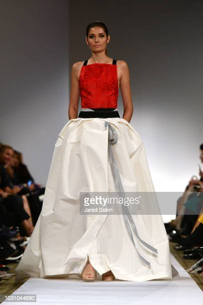 A model walks the runway at the Dennis Basso Spring/Summer 2019 Collection Runway Show during New York Fashion Week at Cipriani 42nd Street on...