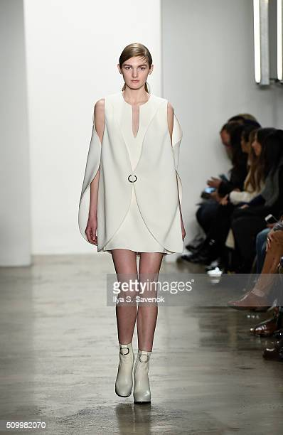A model walks the runway at the Dion Lee fashion show during Fall 2016 MADE Fashion Week at Milk Studios on February 13 2016 in New York City