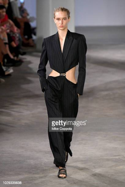 A model walks the runway at the Dion Lee Fashion show during New York Fashion Week on September 8 2018 in New York City