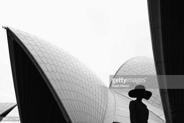 A model walks the runway at the Dion Lee show during MercedesBenz Fashion Week Resort 18 Collections at Sydney Opera House on May 14 2017 in Sydney...