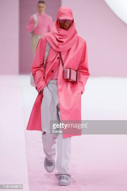 A model walks the runway at the Dior Homme show during Paris Men's Fashion Week Spring/Summer 2020 on June 21 2019 in Paris France
