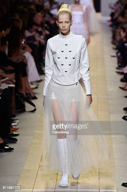 Model walks the runway at the Dior Spring Summer 2017 fashion show during Paris Fashion Week on September 30, 2016 in Paris, France.
