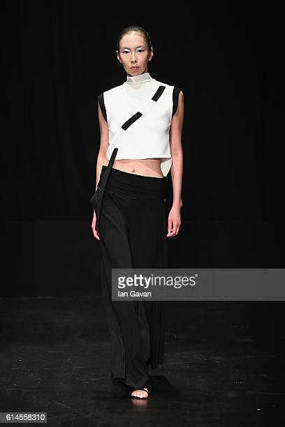 A model walks the runway at the Dogay Can show during MercedesBenz Fashion Week Istanbul at Zorlu Center on October 14 2016 in Istanbul Turkey