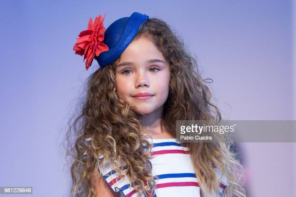 A model walks the runway at the Dolce Adela fashion show during the FIMI Kids Fashion Week on June 22 2018 in Madrid Spain