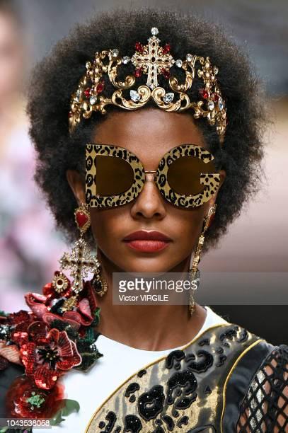 b097155c49b24 A model walks the runway at the Dolce Gabbana Ready to Wear fashion show  during Milan
