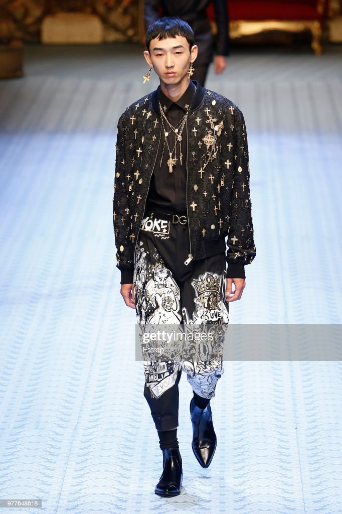 Dolce & Gabbana - Runway - Milan Men's Fashion Week Spring/Summer 2019 : ニュース写真