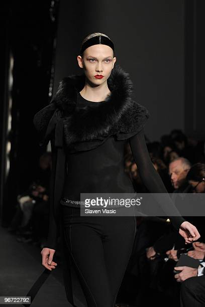 A model walks the runway at the Donna Karan Collection Fall 2010 Fashion Show during MercedesBenz Fashion Week at 711 Greenwich Street on February 15...