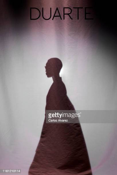 Model walks the runway at the Duarte fashion show during the Mercedes Benz Fashion Week Spring/Summer 2020 at Ifema on July 10, 2019 in Madrid, Spain.