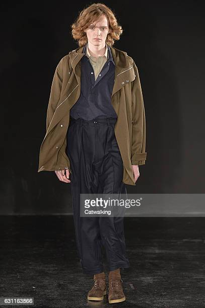 A model walks the runway at the E Tautz Autumn Winter 2017 fashion show during London Menswear Fashion Week on January 7 2017 in London United Kingdom