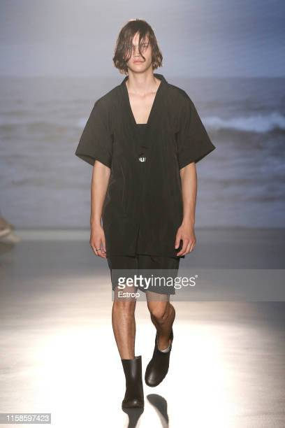 A model walks the runway at the Eñaut show during Barcelona 080 Fashion Week Spring/Summer 2020 on June 27 2019 in Barcelona Spain
