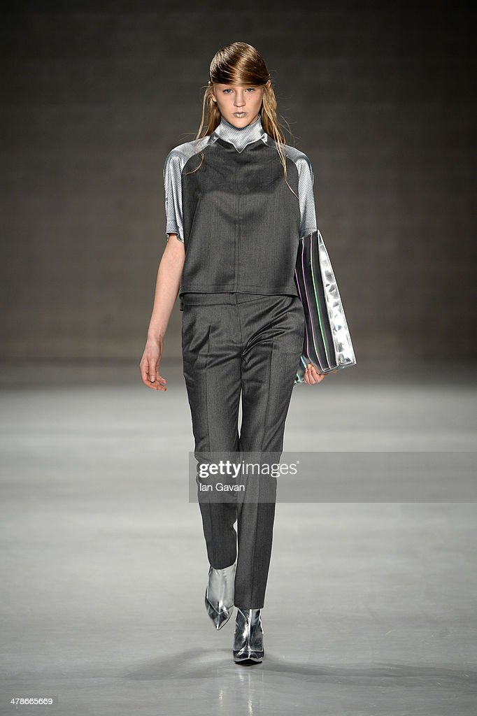 A model walks the runway at the Ece Gozen show during MBFWI presented by American Express Fall/Winter 2014 on March 14, 2014 in Istanbul, Turkey.