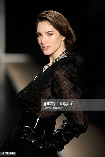 A model walks the runway at the Edition By Georges Chakra Fall 2009 fashion show during MercedesBenz Fashion Week in the Promenade at Bryant Park on...
