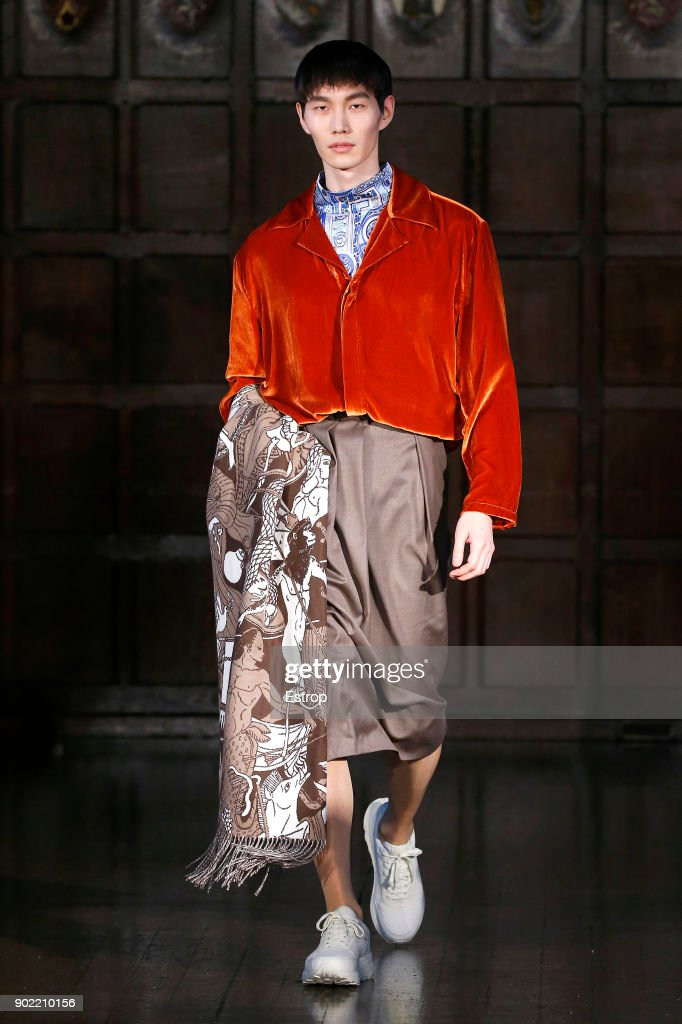 Edward Crutchley - Runway - LFWM January 2018 : ニュース写真