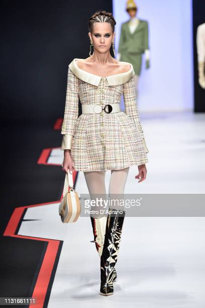 A model walks the runway at the Elisabetta Franchi show at Milan Fashion Week Autumn/Winter 2019/20 on February 23 2019 in Milan Italy