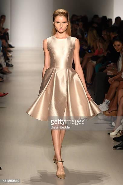 A model walks the runway at the Ellassay show at Fashion Shenzhen fashion show during MercedesBenz Fashion Week Spring 2015 at The Salon at Lincoln...