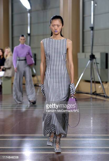 A model walks the runway at the Emilia Wickstead show during London Fashion Week September 2019 at the Royal Albert Hall on September 15 2019 in...