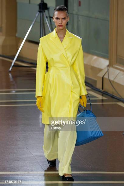 A model walks the runway at the Emilia Wickstead show during London Fashion Week September 2019 on September 15 2019 in London England