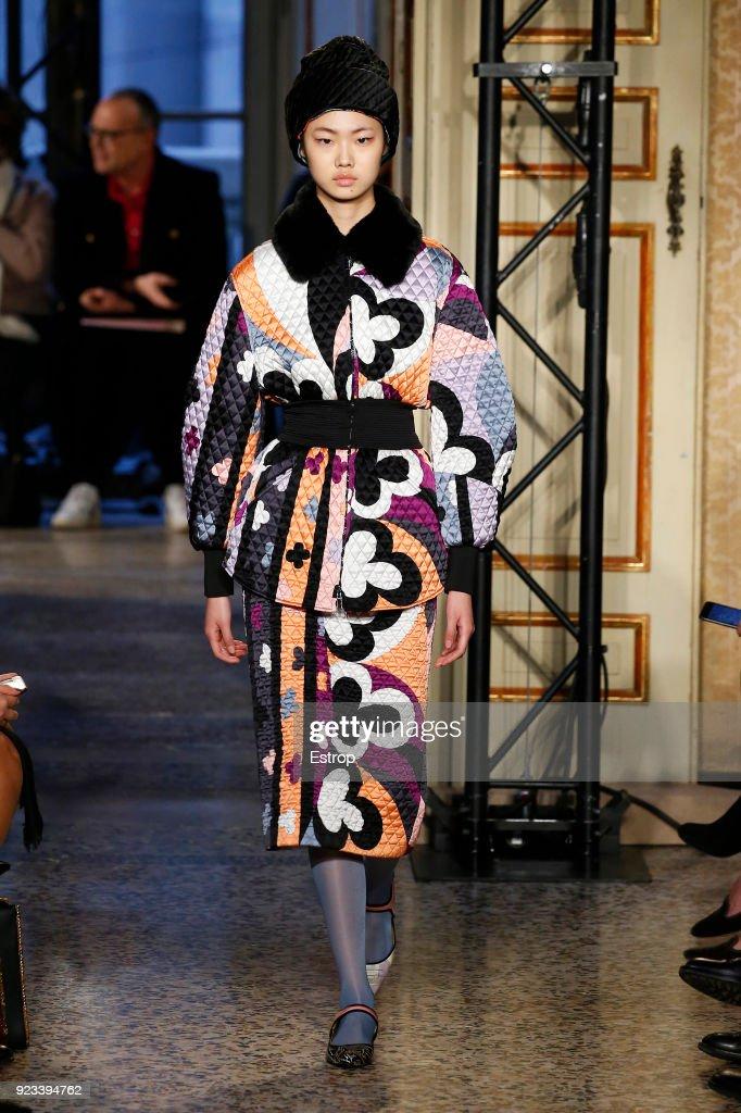 Emilio Pucci - Runway - Milan Fashion Week Fall/Winter 2018/19 : ニュース写真