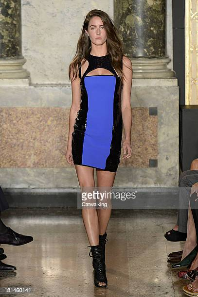 A model walks the runway at the Emilio Pucci Spring Summer 2014 fashion show during Milan Fashion Week on September 21 2013 in Milan Italy