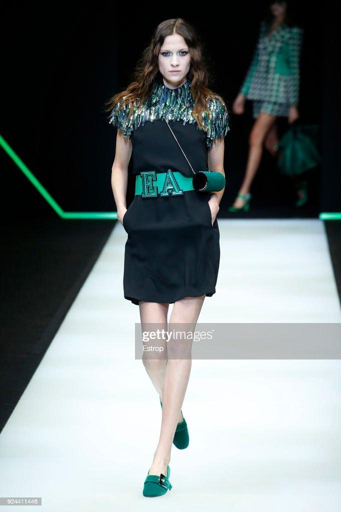 Emporio Armani - Runway - Milan Fashion Week Fall/Winter 2018/19 : Nieuwsfoto's
