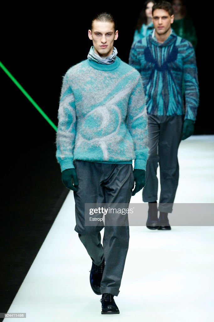 Emporio Armani - Runway - Milan Fashion Week Fall/Winter 2018/19 : Photo d'actualité