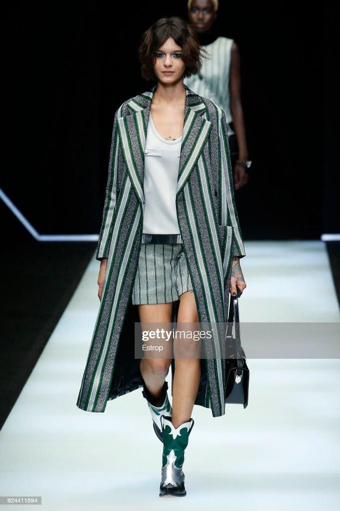 Emporio Armani - Runway - Milan Fashion Week Fall/Winter 2018/19 : ニュース写真