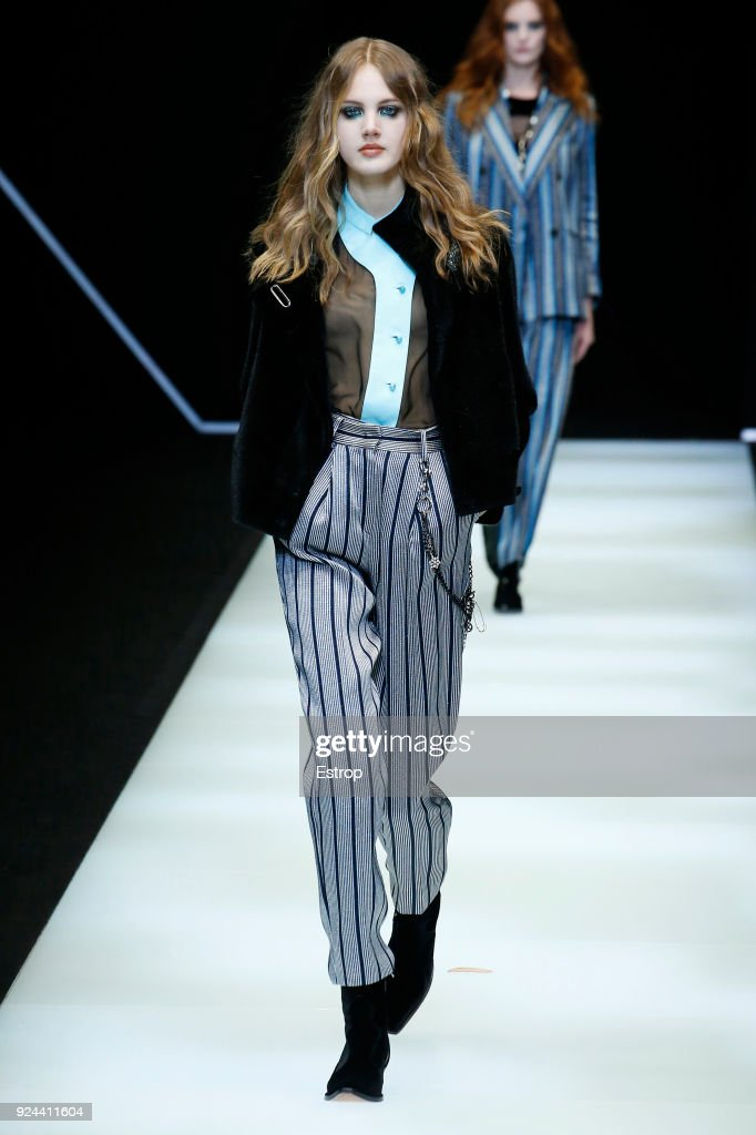Emporio Armani - Runway - Milan Fashion Week Fall/Winter 2018/19 : ニュース写真