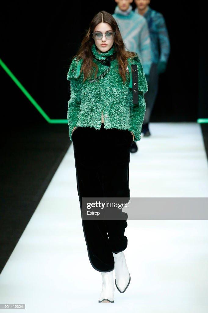 Emporio Armani - Runway - Milan Fashion Week Fall/Winter 2018/19 : News Photo