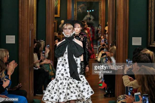 A model walks the runway at the Erdem Ready to Wear Fall/Winter 20192020 fashion show during London Fashion Week February 2019 on February 18 2019 in...