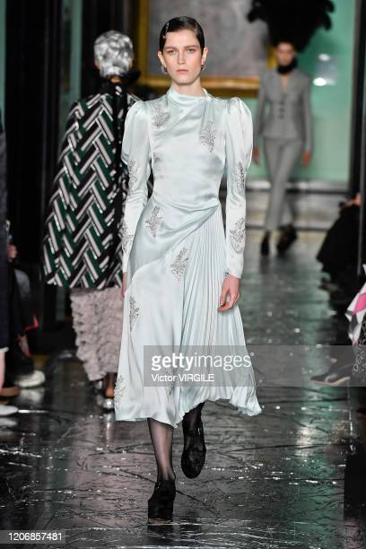 A model walks the runway at the Erdem Ready to Wear Fall/Winter 20202021 fashion show during London Fashion Week on February 17 2020 in London England
