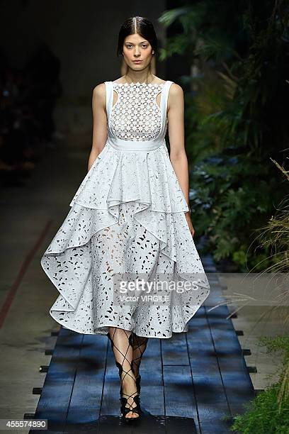 A model walks the runway at the Erdem Ready to Wear show during London Fashion Week Spring Summer 2015 on September 15 2014 in London England