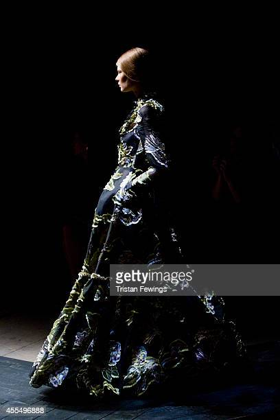 A model walks the runway at the Erdem show during London Fashion Week Spring Summer 2015 on September 15 2014 in London England