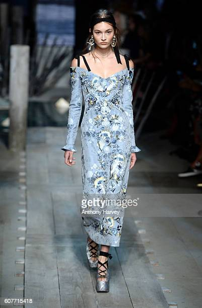 A model walks the runway at the Erdem show during London Fashion Week Spring/Summer collections 2017 on September 19 2016 in London United Kingdom