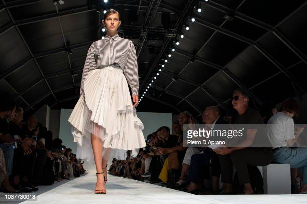 A model walks the runway at the Ermanno Scervino show during Milan Fashion Week Spring/Summer 2019 on September 22 2018 in Milan Italy
